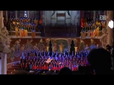 Cant de la Senyera al Palau de la Música Catalana 2012