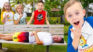 April Fools Day Jokes on Dad with The Fun Squad Family! (Sneaky Jokes and Spying!)