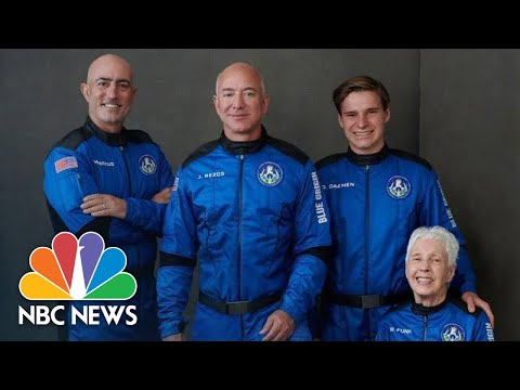 Jeff Bezos Speaks After Successful Launch Into Space | NBC News