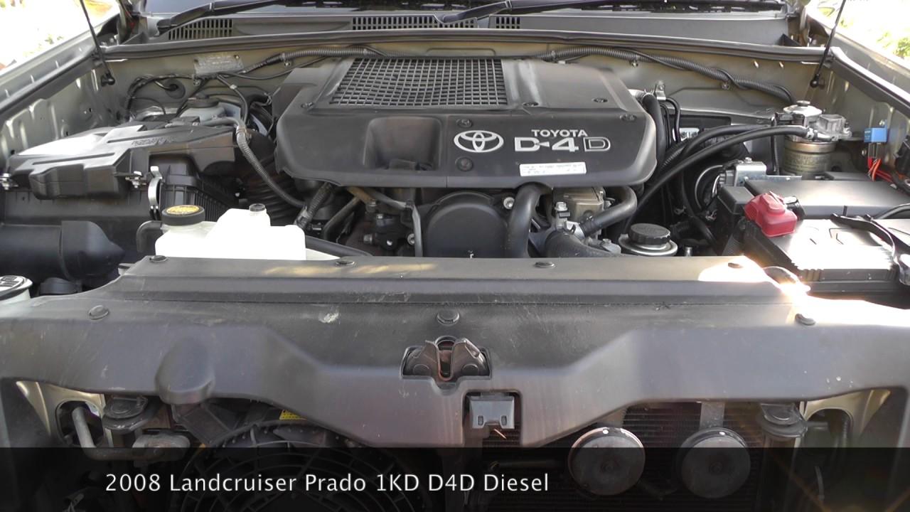 2008 Landcruiser Prado 1kd D4d Engine Sound Youtube