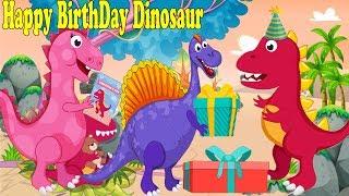 Doğum günün kutlu olsun İyi Dinozor | Tekerlemeler ve Çocuk Şarkıları ile Çocuklar için Çizgi film Dinozor