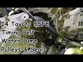 Timing Belt, Water Pump, Seals & Pulleys Replacement: 2.2L I4 Toyota 5SFE Engine