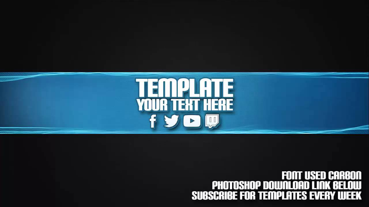 Cool channel art template 19 free photoshop download for Cool youtube channel art templates
