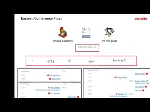 pittsburgh - ottawa, nashville - anaheim NHL Schedule and Results playoff stanley cup
