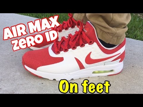 """nike shox ballo des femmes - Nike Air Max Zero iD """"White Red"""" on feet - YouTube"""