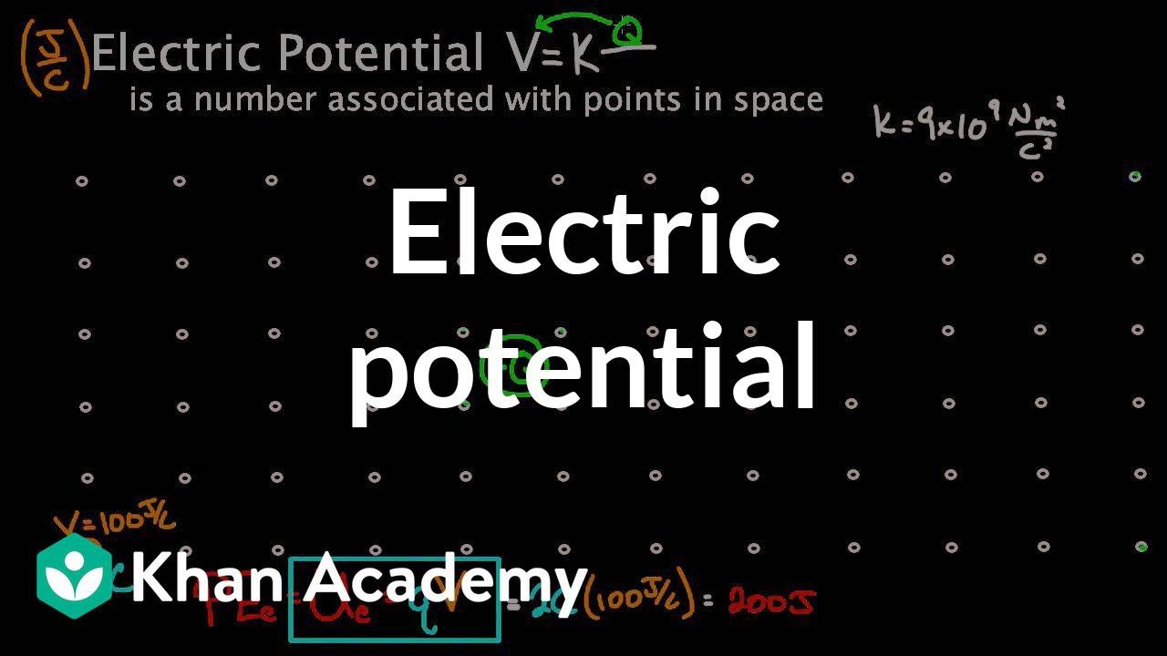 Electric potential at a point in space (video) | Khan Academy