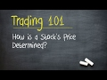 Trading 101: How is a Stock's Price Determined?