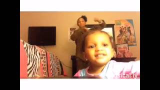 Drop Dance video bombing by little sis! Watch like