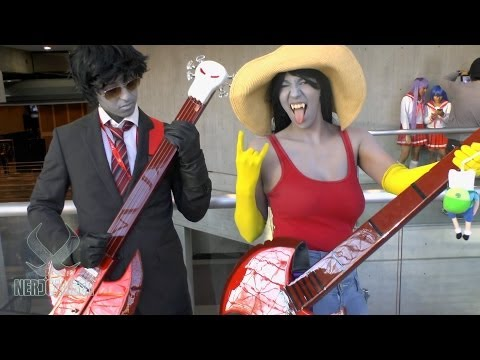 MARCELINE and MARSHALL LEE! Adventure Time Cosplay at NYCC 2013
