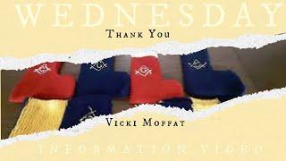 Wednesday Information Video-Thank You Vicki Moffat