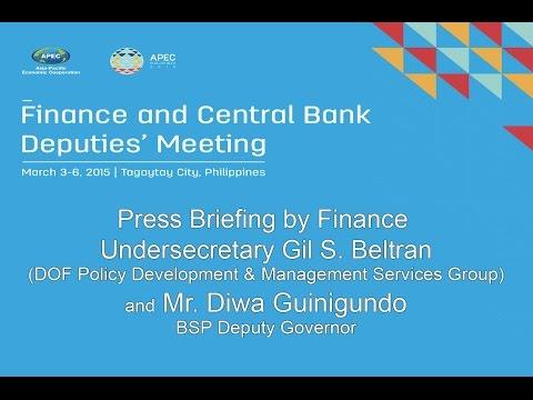 Press Briefing by Finance Usec. Gil Beltran and Mr. Diwa Guinigundo 3/6/2015