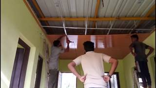 How to Install PVC  Panels On The Ceiling - Easy Installation Pvc Ceiling Panel