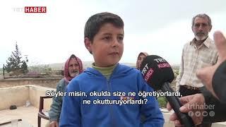 Afrinli çocuklar YPG/PKK'lı teröristlerin zulmünü  anlattı.