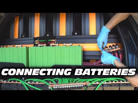 WIRING Multiple Car Audio Batteries in Series / Parallel   How To Wire JY Lithium & AGM Battery Bank