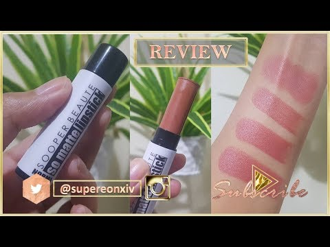 Sooper Beaute So Matte Lipstick In Norma Review | SuperEon Xiv