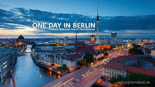 One Day in Berlin. Motion Timelapse. Video