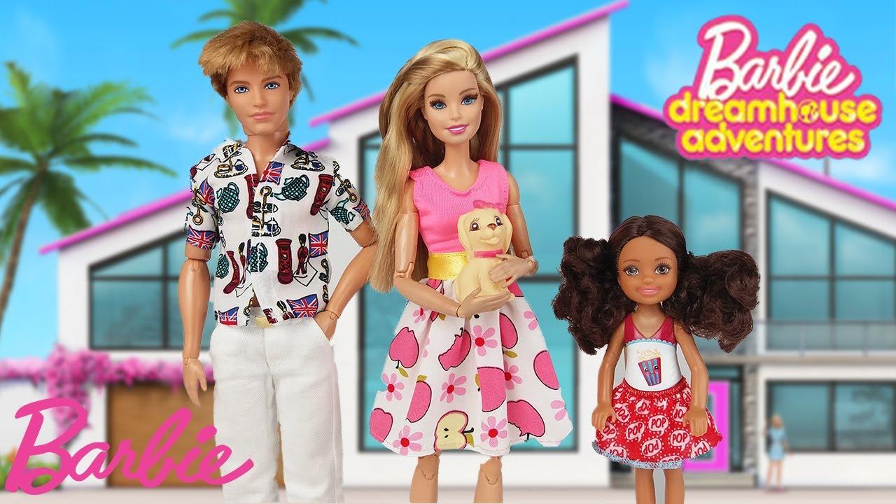 Barbie Dreamhouse Adventures Barbie Ken Baby Family Morning Routine