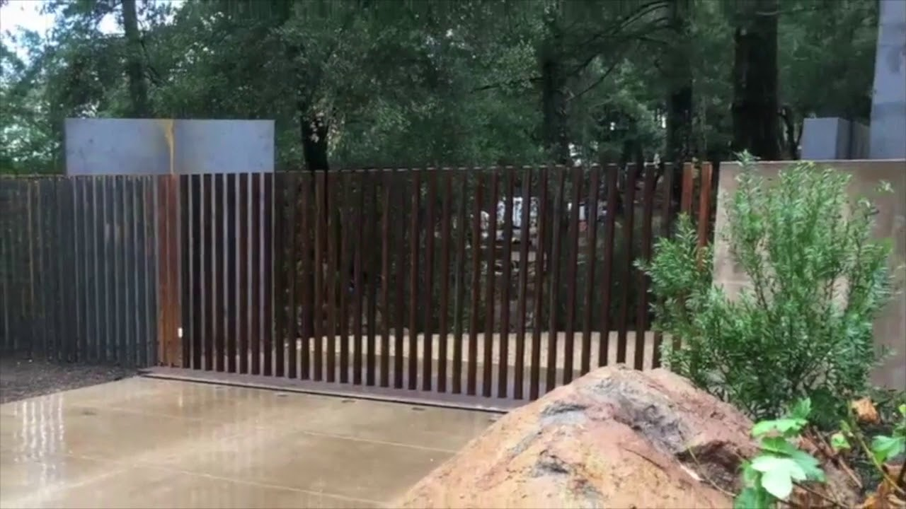 Retractable Gate Fancy Fence Mulholland Security Los