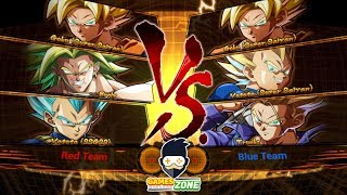 DRAGON BALL FighterZ Team Goku Vs Team Vegeta first Play  #Arcade Mode