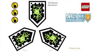 All 20 Lego Nexo Forbidden Powers + 20 combos. LEGO Nexo Knights Merlok