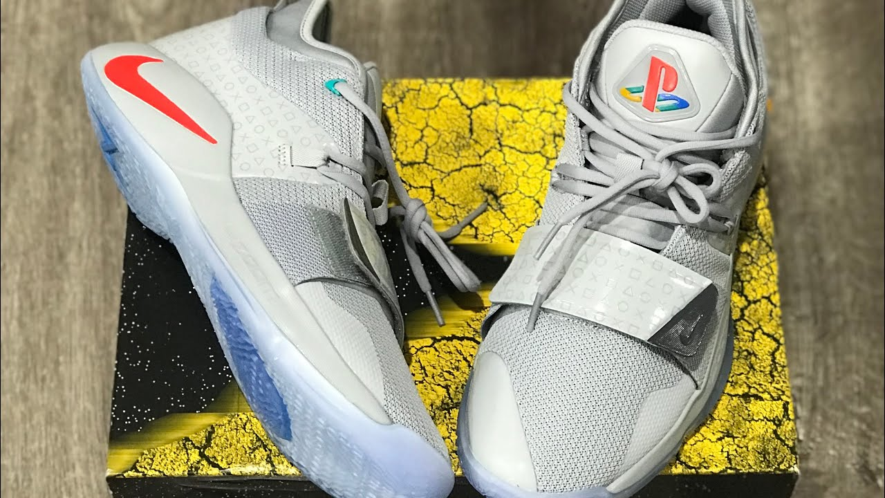 separation shoes 4c127 e2f4c Nike PG 2.5 PlayStation Wolf Grey Review + Glow Test *Paul George OKC*