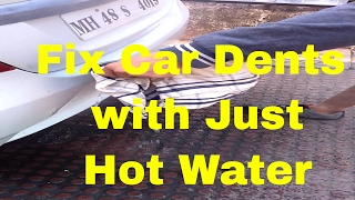 car dent repair with hot water and toilet plunger diy antidiary. Black Bedroom Furniture Sets. Home Design Ideas