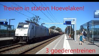 Treinen in station Hoevelaken. 29-6-2019