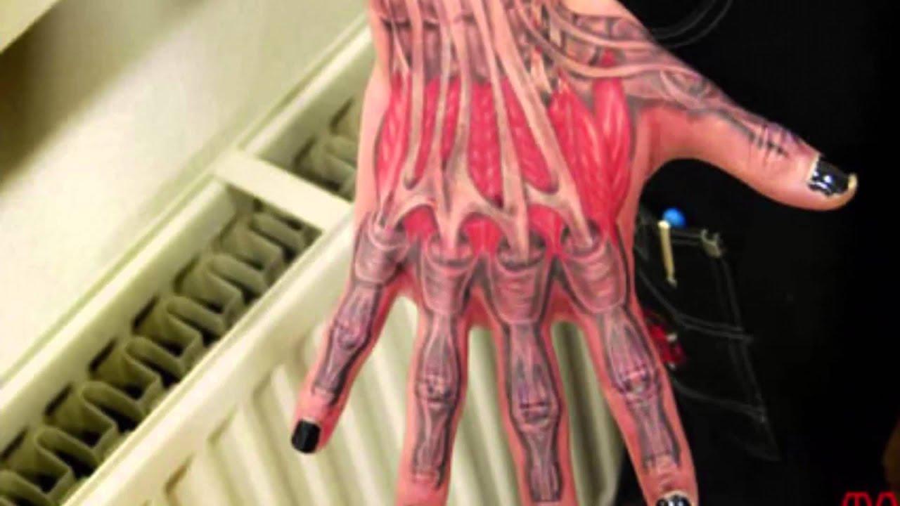 12 Creepiest Anatomical Tattoos Most Creative Tattoos Youtube