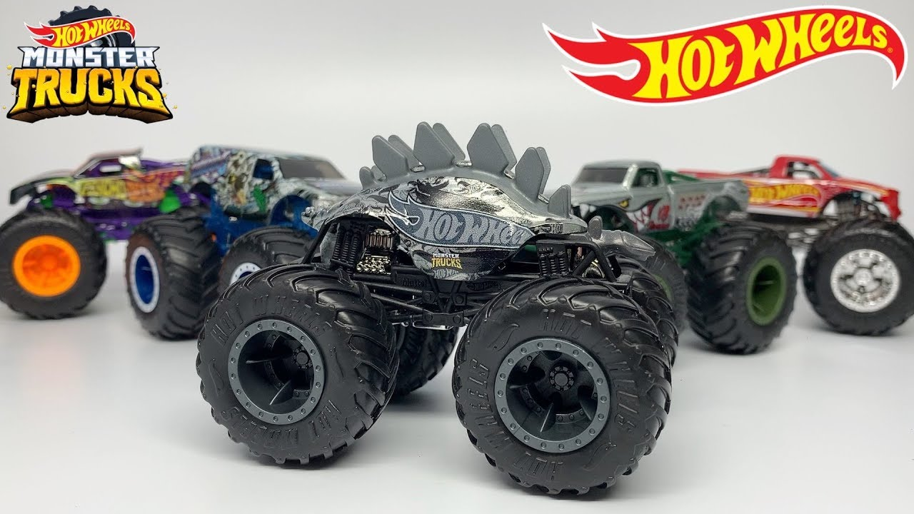 2020 Hot Wheels Monster Trucks Smash Squad 5 Pack Youtube
