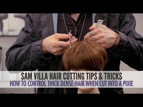 How To Control Thick Dense Hair When Its Cut Into Pixie