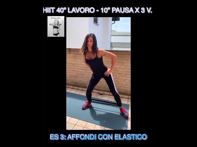 """CIRCUITO HIIT 40"""" LAVORO-10"""" PAUSA X 3 VOLTE #55"""