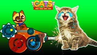 ВОЙНА КОТИКОВ #4 видео для детей про котиков в игре CATS веселая красочная мультяшная детская игра