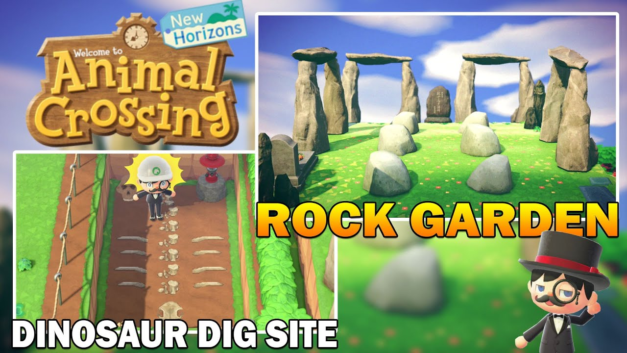 New Rock Garden Shrine & Dinosaur Dig Site! Animal ...