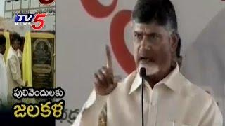 AP CM Chandrababu Speech at Gandikota Water Release to Pulivendula | TV5 News