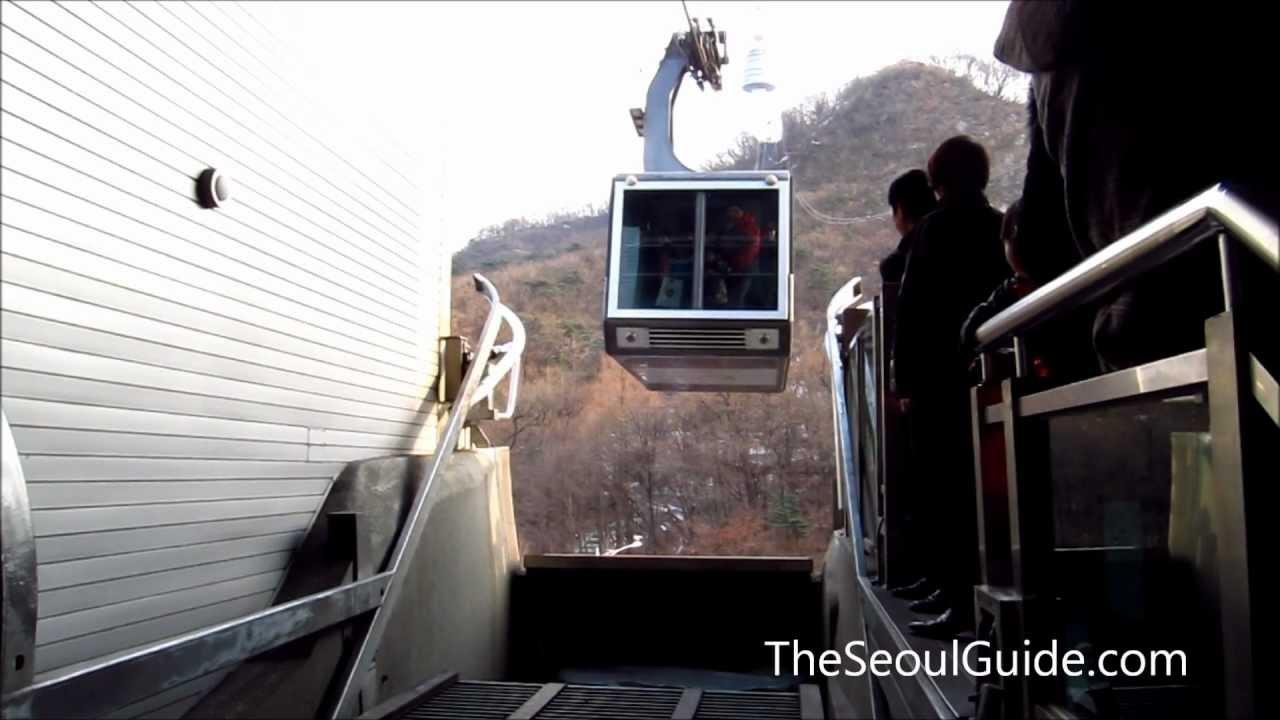 Namsan cable car - Namsan Cable Car In Seoul South Korea