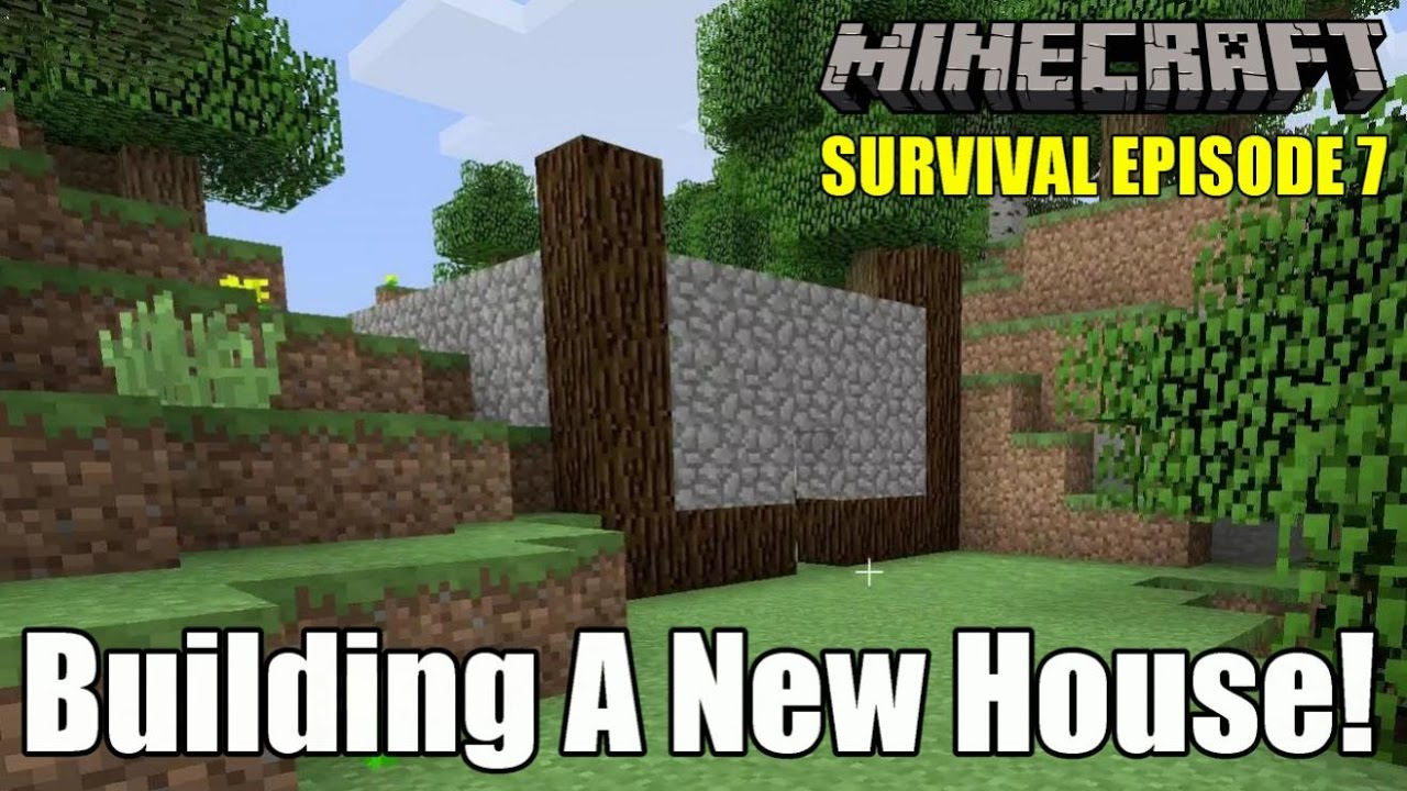 building a new house minecraft ps4 survival episode 7 youtube