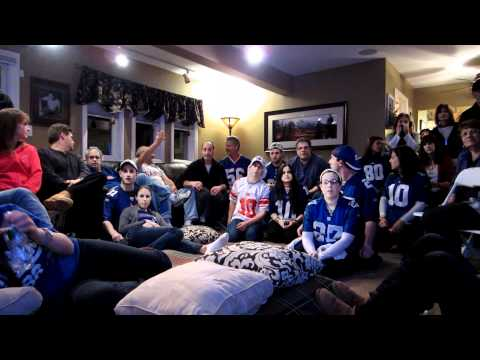 The final minutes of the NY GIANTS SUPER BOWL WIN 2012