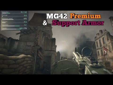 MG42 Premium & Support Armor ✔ Deathmatch ☆ World War Heroes