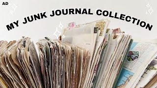 My Junk Journal Collection | Junk Journal Flip Through & How I Use My Journals