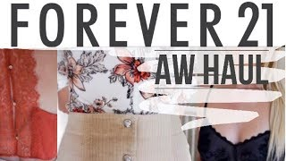 60 SECOND TRY ON HAUL    Forever 21    Autumn Lookbook