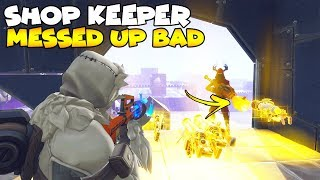The Shop Keeper MESSED UP BAD! 😳😱 (Scammer Gets Scammed) Fortnite Save The World