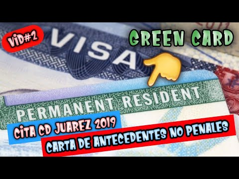 Cita Ciudad Juarez Mexico 2019 Green Card Carta De
