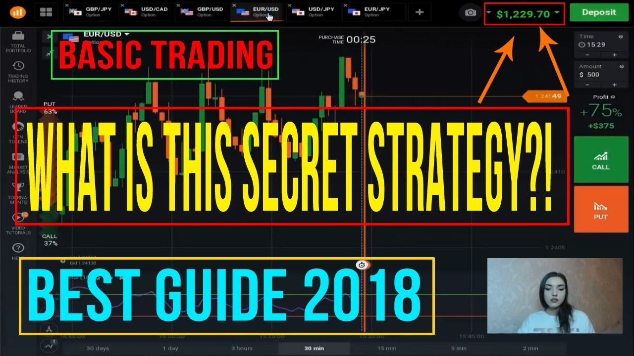 IQ OPTION TRADING STRATEGY - Best Guide 2018 - Iq Option Tutorial