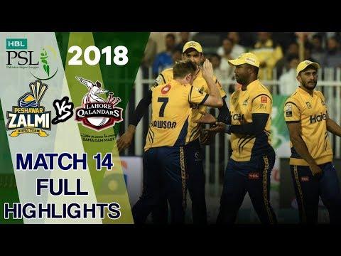 Full Highlights | Lahore Qalandars Vs Peshawar Zalmi  | Match 14 | 3rd March | HBL PSL 2018