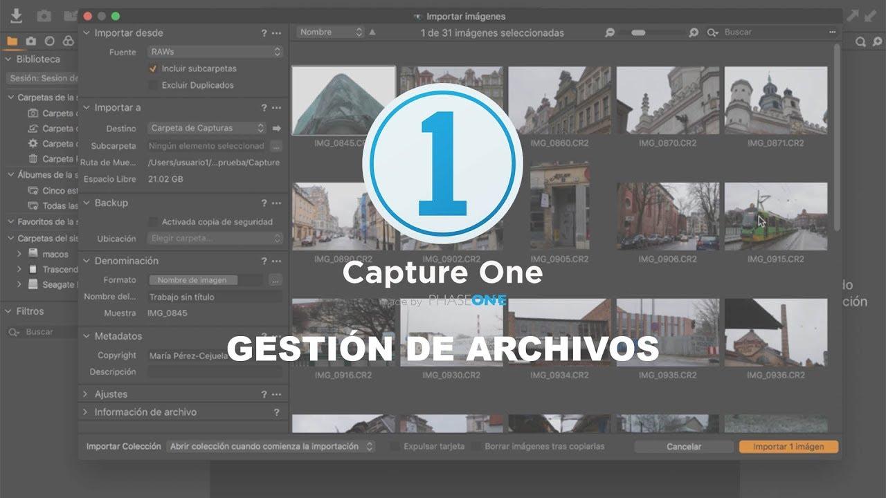 Capture One Pro 12 - Gestión de archivos - YouTube
