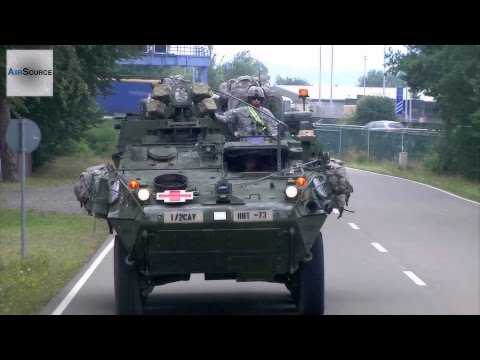 2nd Cavalry Regiment Strykers Convoy In South-western Germany