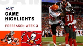 Browns vs. Buccaneers Preseason Week 3 Highlights | NFL 2019