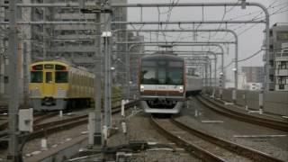 平日朝ラッシュ時の西武池袋線・豊島線・有楽町線練馬駅