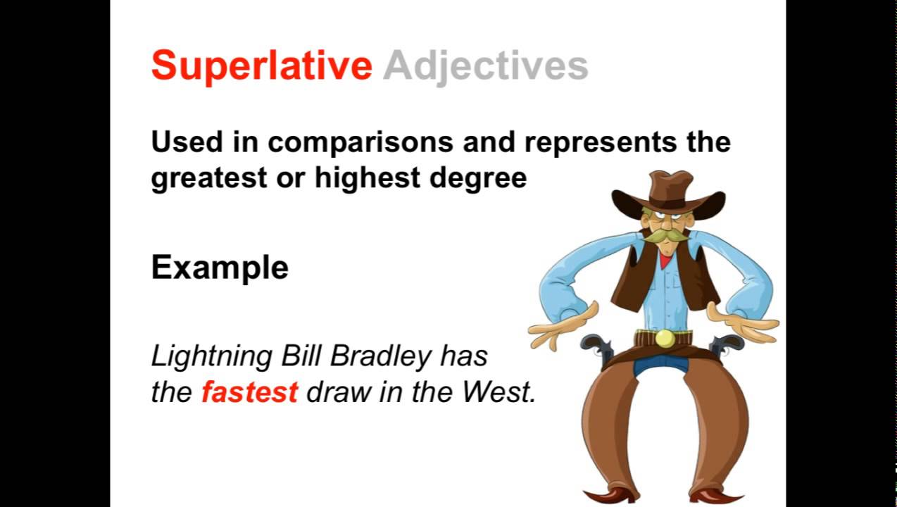 comparative and superlative adjectives parts of speech app youtube