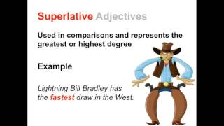 Comparative and Superlative Adjectives | Parts of Speech App